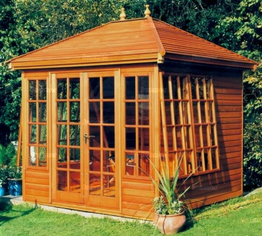 Hipped Summerhouse 68 - Low Level Georgian, Double Door
