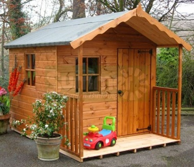 Verandah Playhouse 122 - Shiplap, All T and G