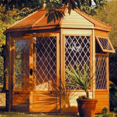 Leaded Octagonal Summerhouse 64 - Double Door