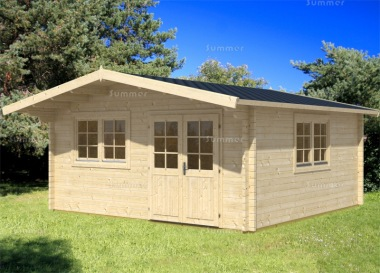 Apex Double Door Log Cabin 450 - Bespoke, Double Glazed