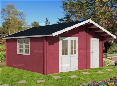 Two Room Apex Log Cabin 473 - Double Glazed