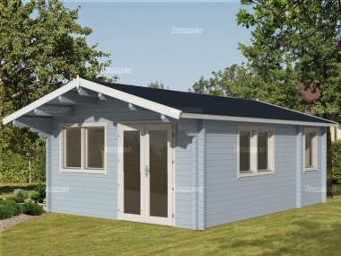 Three Room Apex Log Cabin 493 - Large Panes, Double Glazed