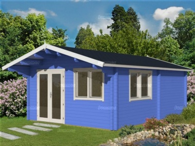 Three Room Apex Log Cabin 497 - Large Panes, Double Glazed