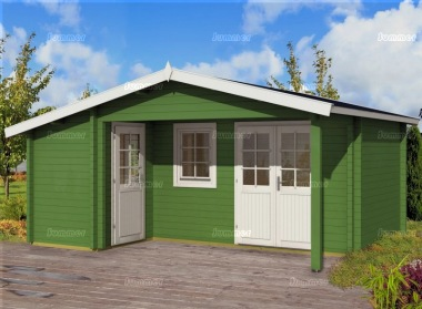 Two Room Apex Log Cabin 553 - Double Glazed