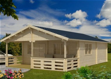 Four Room Apex Log Cabin 814 - Double Glazed