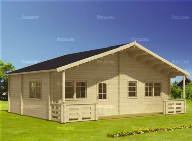 Four Room Apex Log Cabin 817 - Double Glazed