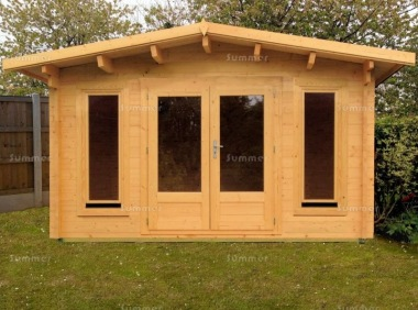 Apex 45mm Log Cabin 011 - Double Glazed, Large Panes