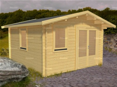 Apex Double Door Log Cabin 566 - Double Glazed