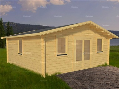Apex Double Door Log Cabin 571 - Double Glazed