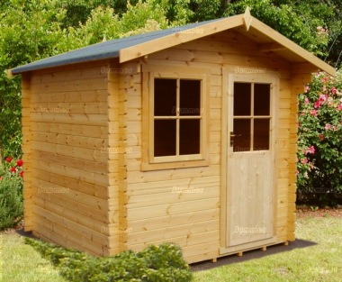 Georgian Apex Single Door 28mm Log Cabin 128