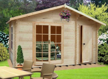 Two Room Apex Log Cabin 238 - a Shed and a Summerhouse