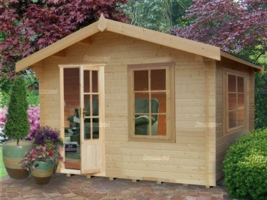 Georgian Apex Single Door 28mm Log Cabin 239