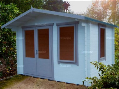Apex Log Cabin 264 - Large Panes, Double Door