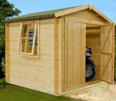 Log Cabin Shed 268 - Apex, 19mm Logs, Boarded Doors