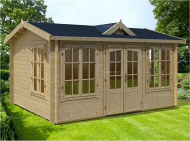 Clocktower Log Cabin 274 - Double Glazed, Double Door