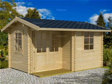 Side Door Apex 45mm Log Cabin 278 - Integral Porch