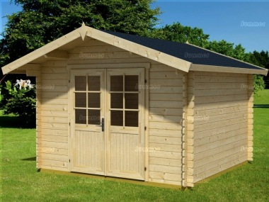 Apex Double Door 28mm Log Cabin 46 - Double Door