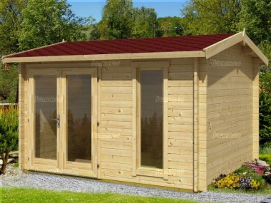 Side Door Apex 40mm Log Cabin 548 - Large Panes