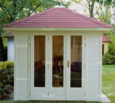 Hipped Roof Folding Door Log Cabin 308 - Bespoke