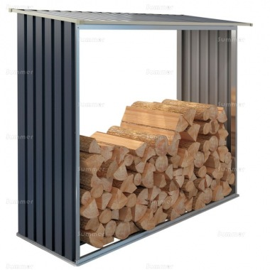 Log Store 117 - Galvanized Steel