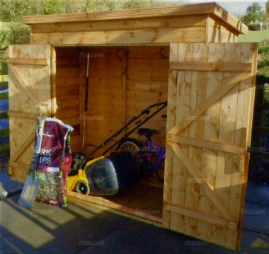 Shiplap Pent Roof Small Storage Shed 98