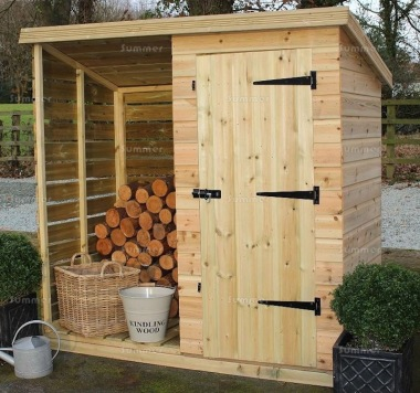 Shiplap Pent Roof Shed 988 - Log Store
