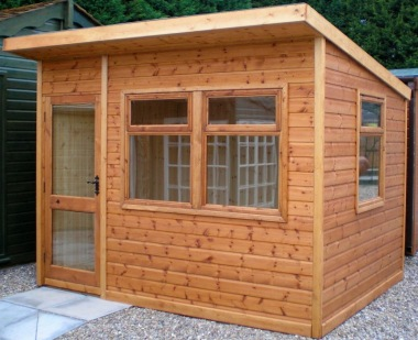 Pent Summerhouse 58 - Double Glazed