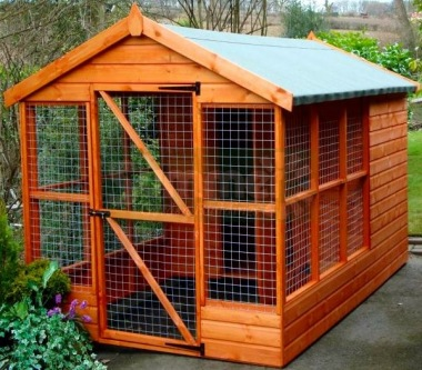 Shiplap Apex Roof Dog Kennel and Run 201