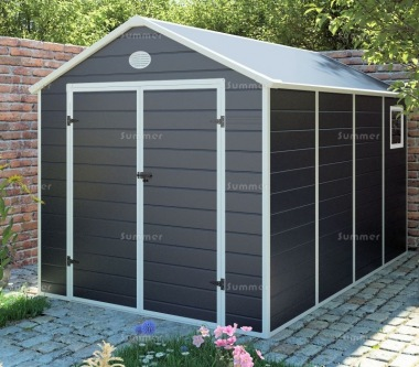 Steel Framed Plastic Shed 658 - Honeycomb Polypropylene Panels