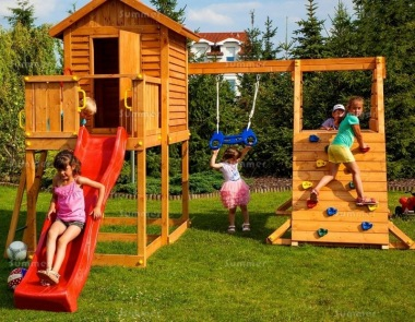 Platform Play Centre 322 - With Slide, Swing, Climbing Frame