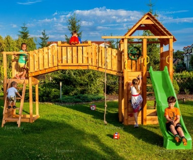 Play Centre 302 - With 2 Towers, Bridge and Slide