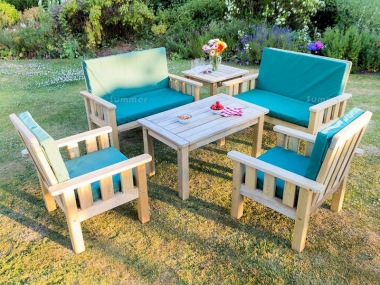 Presure Treated 6 Seater Dining Set 880 - Armchairs, Benches, Tables