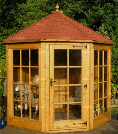 Georgian Octagonal Summerhouse 169 - Low Level Glazing