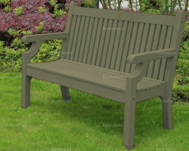 Synthetic Wood Bench 236 - Grey Finish, Maintenance Free