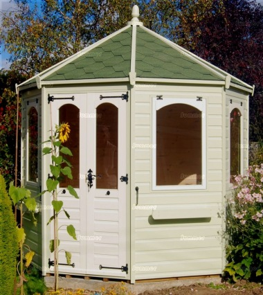 Octagonal Summerhouse 945 - Painted, Window Boxes