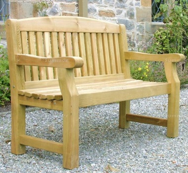 Pressure Treated Garden Bench 800 - Vertical Slats