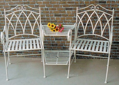 Vintage Love Seat 610 - Wrought Iron, Antique Finish