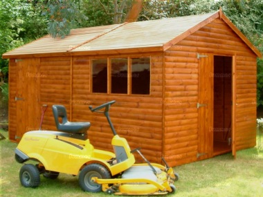 Loglap Double Door Apex Shed 551 - Extra Tall Workshop
