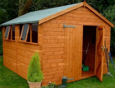 Shiplap Apex Shed 58 - Workshop, Thicker Boards