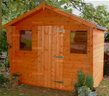 Shiplap Transverse Apex Shed 67 - Cabin Style