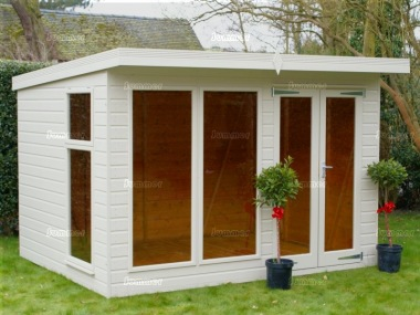 Pent Summerhouse 237 - Low Level Glazing, Double Door