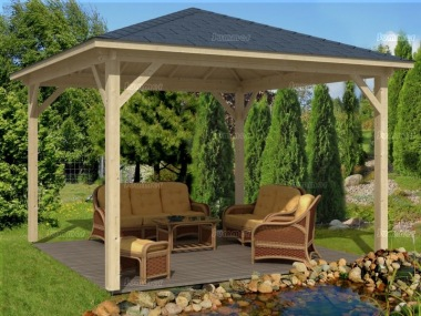 Wooden Gazebo 272 - Hipped Roof