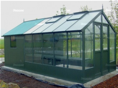 Thermowood Wooden Greenhouse 218 - Built In Shed