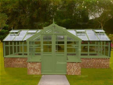 Thermowood Orangery 229 - Valley Roof, Toughened Glass
