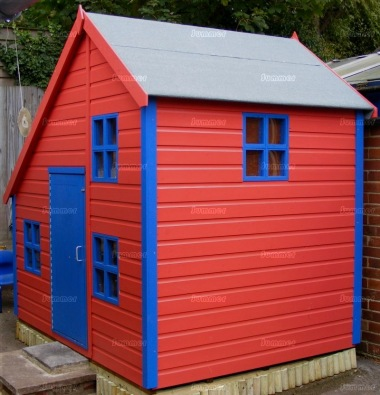 Two Storey Playhouse 30 - Painted, Upstairs to one Side