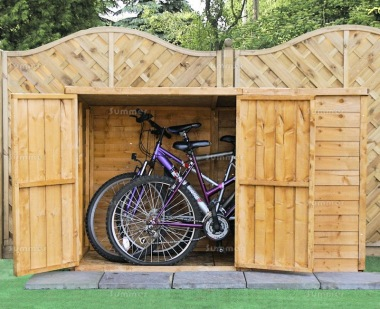 Overlap Double Door Pent Storage Shed 210