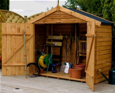 Overlap Double Door Transverse Apex Shed 275