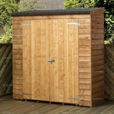 Overlap Pent Roof Double Door Small Storage Shed 277