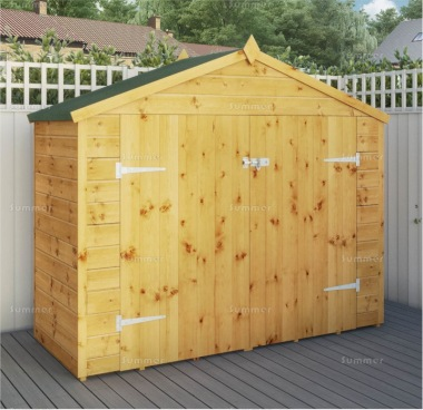 Transverse Apex Shed 284 - Pressure Treated, Double Door