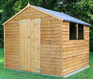 Overlap Double Door Apex Shed 296
